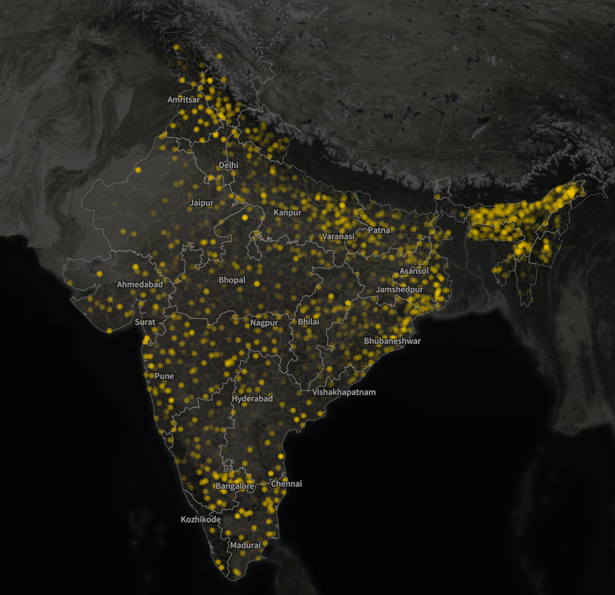 Lights of India visualization