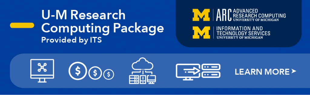 U-M Research Computing Package decorative banner