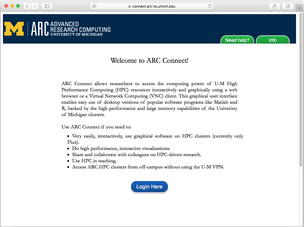 ARC Connect – Logging in | ARC-TS